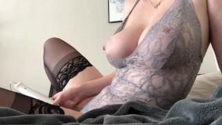 Ameatuer in Sexy Lace Bodysuit
