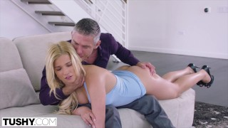 TUSHY Blonde Bombshell Wanted To Be Gaped By Her Professor By Any Means Nec