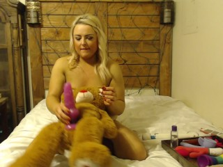 Kady humps her pillow and gets stuffed by Teddy