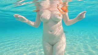 Pale redhead naked