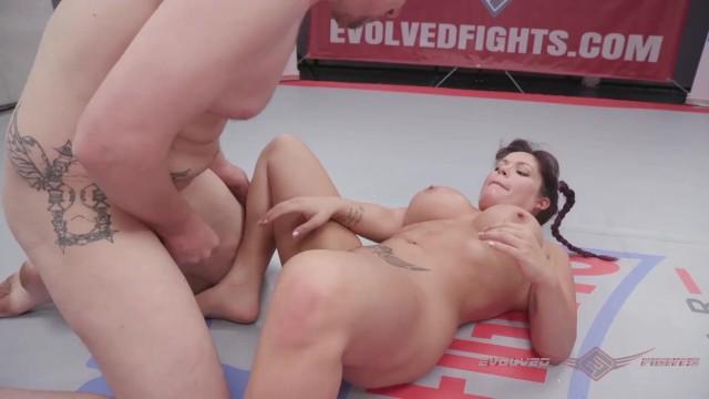 Jasmeen LaFleur nude wrestling vs newcomer Eric and winner fucks the loser