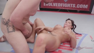 Jasmeen LaFleur nude wrestling vs newcomer Eric and winner fucks the loser