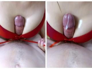 Wet Panty Fuck Amateur Neighbour Bra Titfuck Ends Huge Cumshot, Amateur Big Dick Big Tits