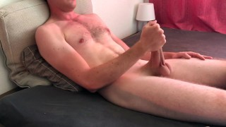 Horny Student helping himself and edging his Big Cock - Cumshot-Jerking Off