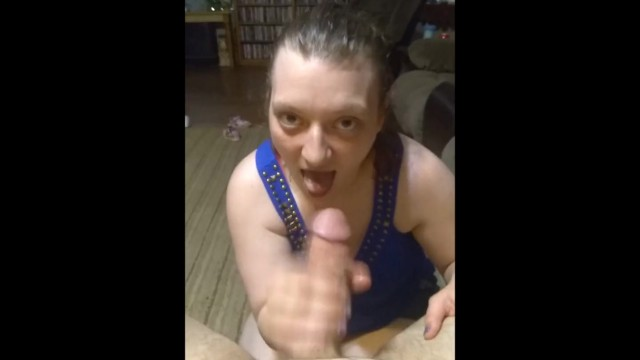 Cum gag vids Pov wife gives blowjob and gags swallowing cum full vid