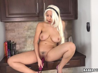 Solo Asian girl masturbation session with Sharon Lee, in 4K