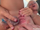 Young nurse Jennifer Fox wanks her pussy with vaginal speculum