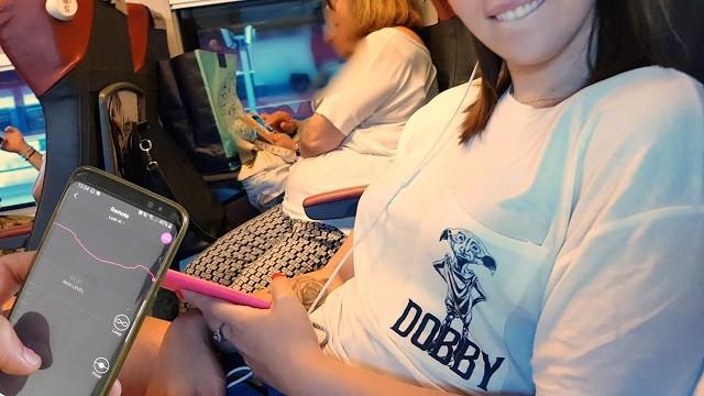 Dildo public gallery Il mio amico controlla il mio dildo bluetooth sul treno finchè io...
