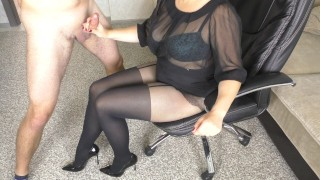 PH4U: Trainer helps her scholar with homework in horny pantyhose