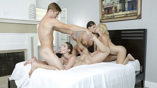Screen Capture of Video Titled: BFFS - Flexible Teens Get Fucked Hardcore By Their Trainer