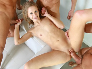 MY VERY FIRST GANGBANG BUKKAKE Tiny Year Old Teen Craves More Cocks Johnny Castle, Rachel James