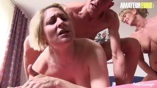 AmateurEuro - German Mature Sluts Share a Cock In The Afternoon