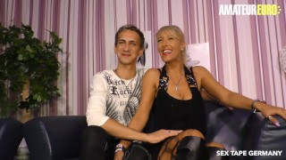 AmateurEuro - Super Hot German MILF Makes a SEX TAPE with Her STEP SON