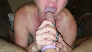 Sucking Daddys Big Cock and choking on cumshot