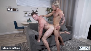 Mencom - Bearback Plumber lays pipe - Pierce Paris, Blake Ryder