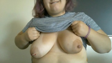 Chubby University Student Flashes in Classroom