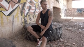 CARLOS JERF-OFF AND CUM IN ABANDONED HOUSE