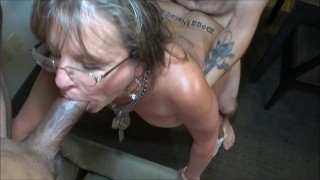 Tattoo Split Roast 50y MILF Cougar Jules