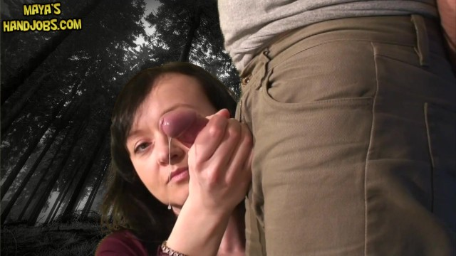 Fully clothed teen fingering clit Fully clothed jerking in dark woods