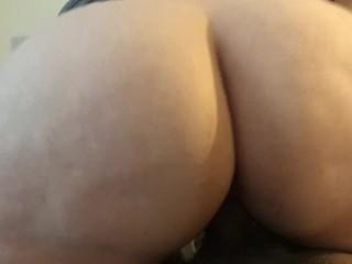 Fat ass making the bed squeak til I cum!