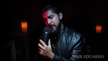 ASMR - Bad Boy Dirty Talk In Dungeon Ft. Leather Jacket, Deep Voice, Beard+