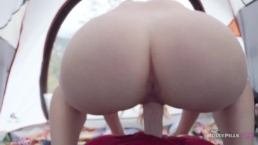 Slutty Young Camper Fucks Friend Hard After Hike POV - Molly Pills - 1080p