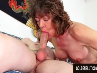 Older BJ Queen Babe Morgan Sucks His Cock to Perfection and Takes It Deep