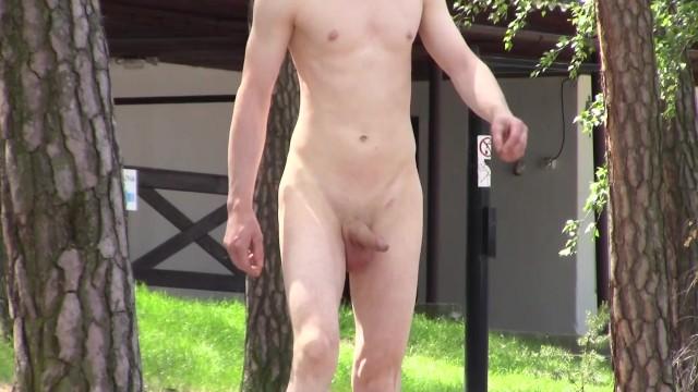Erect nudist Public erection - nudist beach