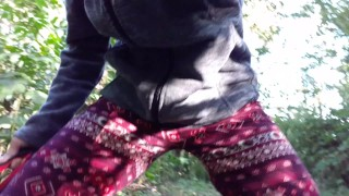 Desperate Public Pants Wetting On The Main Path