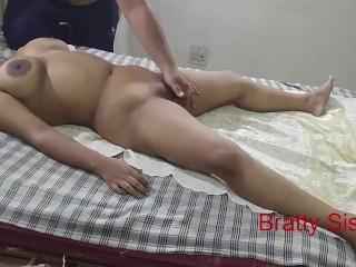 Bratty Sister -Hot sister massaged by stranger
