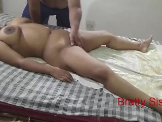 Bratty Sister Hot sister massaged by stranger