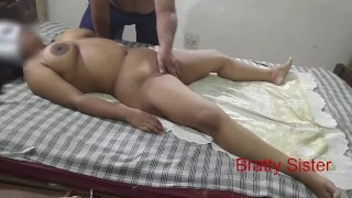Bratty Sister -Hot sister massaged by stranger