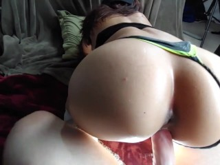 Extra Creamy Pussy Big Ass DD Cup Oiled Tits Fitness Model Loves Big Cock