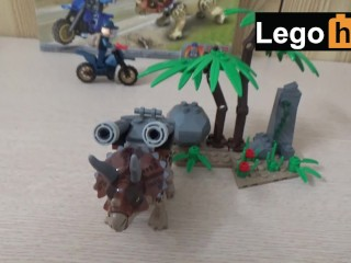 This Lego triceratops with missiles on its back will make you cum in 2 mins
