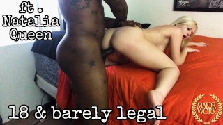 FULL 50 MIN CLIP // PETITE 18 YEAR OLD NATALIA QUEEN POUNDED BY ROME MAJOR