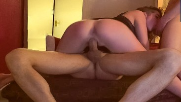 Two Cocks Fucks Me Better.Threesome marathon at private party. Second Part