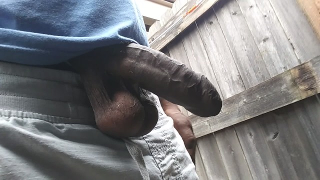 Free nake gay black male videos Walking around with my dick out bbc lovers