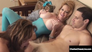 Busty Cougars Charlee Chase & Deauxma Fuck Charlee's Hubby!
