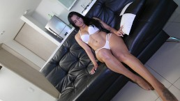 BANGBROS - Colombian Teen Goddess Valery Santos Gets Her Porn Cherry Busted