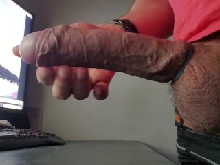 Long edging multiple cumshots and post ograsm torture with cum lube