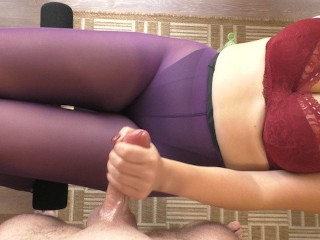 Cumshot on step sister purple paose blowjob handjob