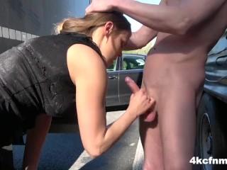 CFNM Hitchhiker Swallows Cum for a Ride