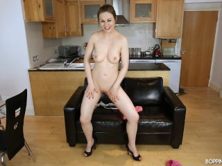 Tina Kay Doing Striptease Just For You To Wank And Cum Over Her Juicy Tits