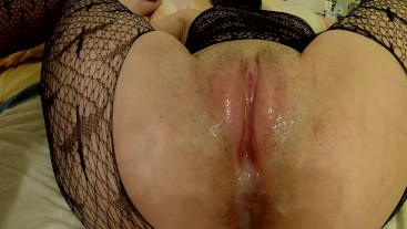 Hooded Bitch gets fucked POV, screams, gets a creampie andcum dripping!