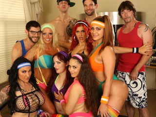 Busty MILFs Teen s Workout Turn Into an Orgy With Huge Cocks Alex Legend, Miss Raquel, Savana Styles