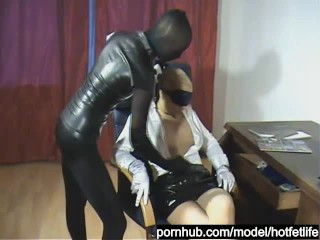 Nylon Robbery Fetish and Fuck of the Paose Encasement Slut Part