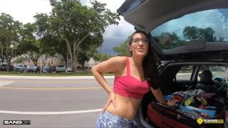 Roadside - Hippie Teen Fucked By Roadside Assistance