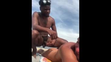 cock Twink beach huge at
