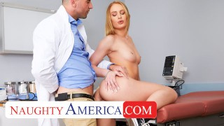 Naughty America – Daisy Stone needs her Pussy checked by the Dr