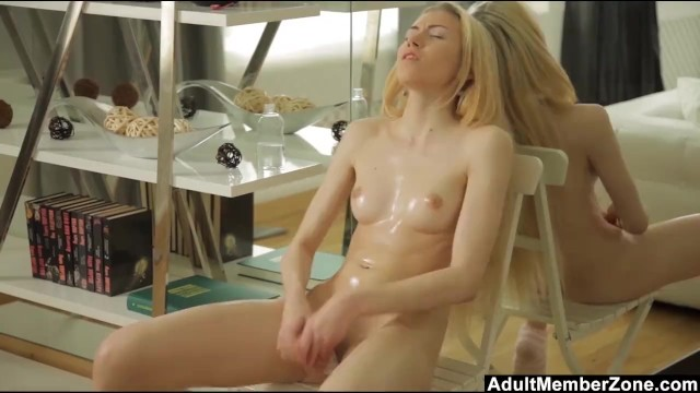 Oiling Up To Make Herself Cum